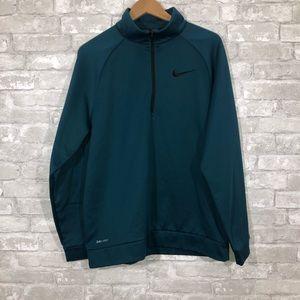 Mens Nike Half Zip Dri-Fit fleece Teal Size Large
